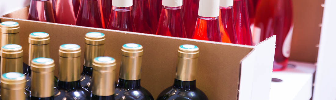 corrugated packaging for wine bottles